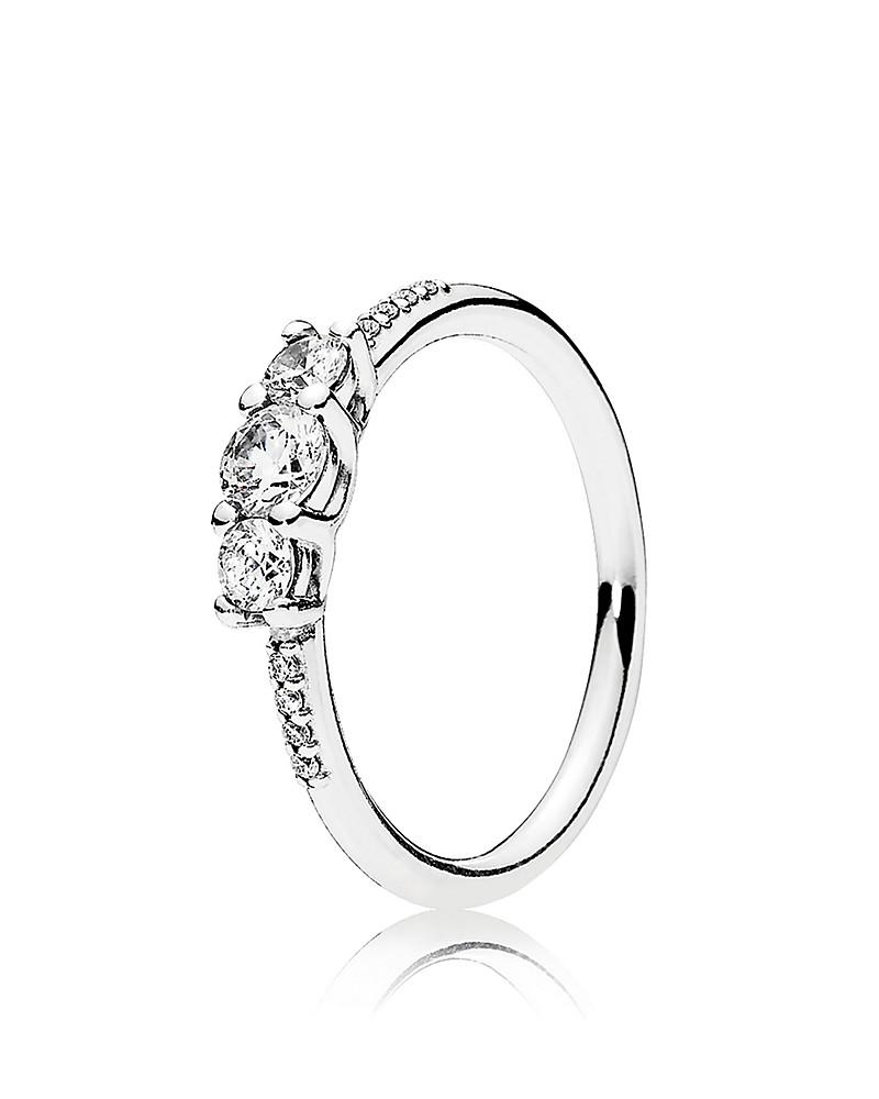 pandora ring - sterling silver & cubic zirconia fairytale sparkle