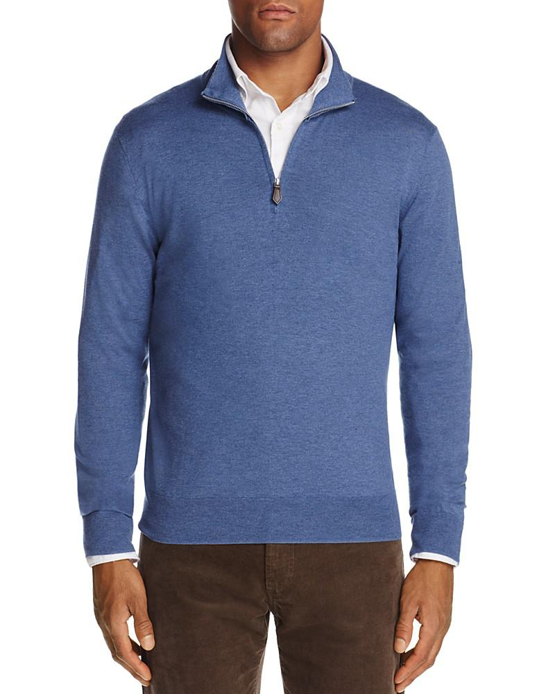 the men's store at bloomingdale's quarter-zip sweater - 100% exclusive