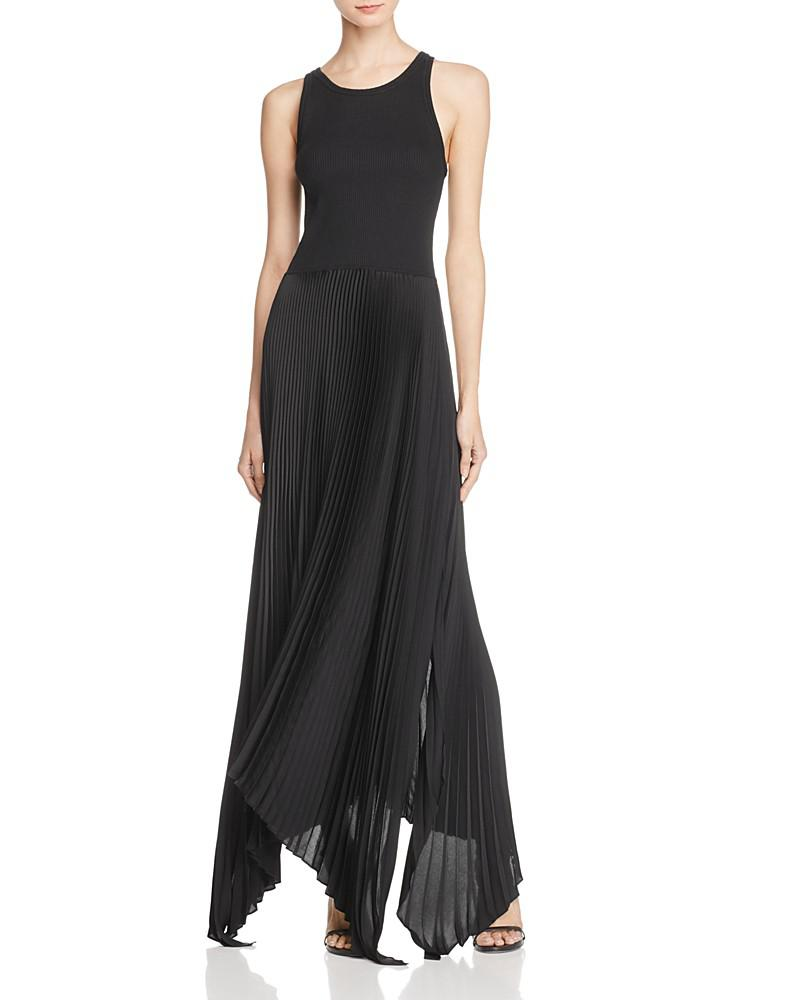 theory vinessi pleated maxi dress