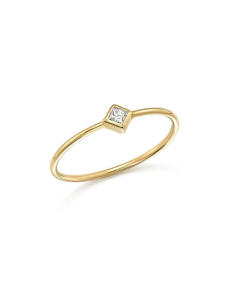 zoë chicco 14k yellow gold bezel ring with diamonds