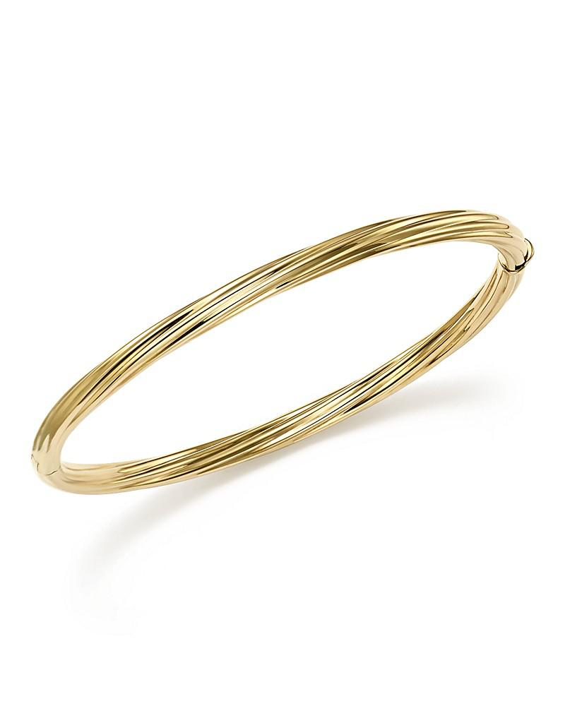 bloomingdale's 14k yellow gold polished twist bracelet - 100% exclusive