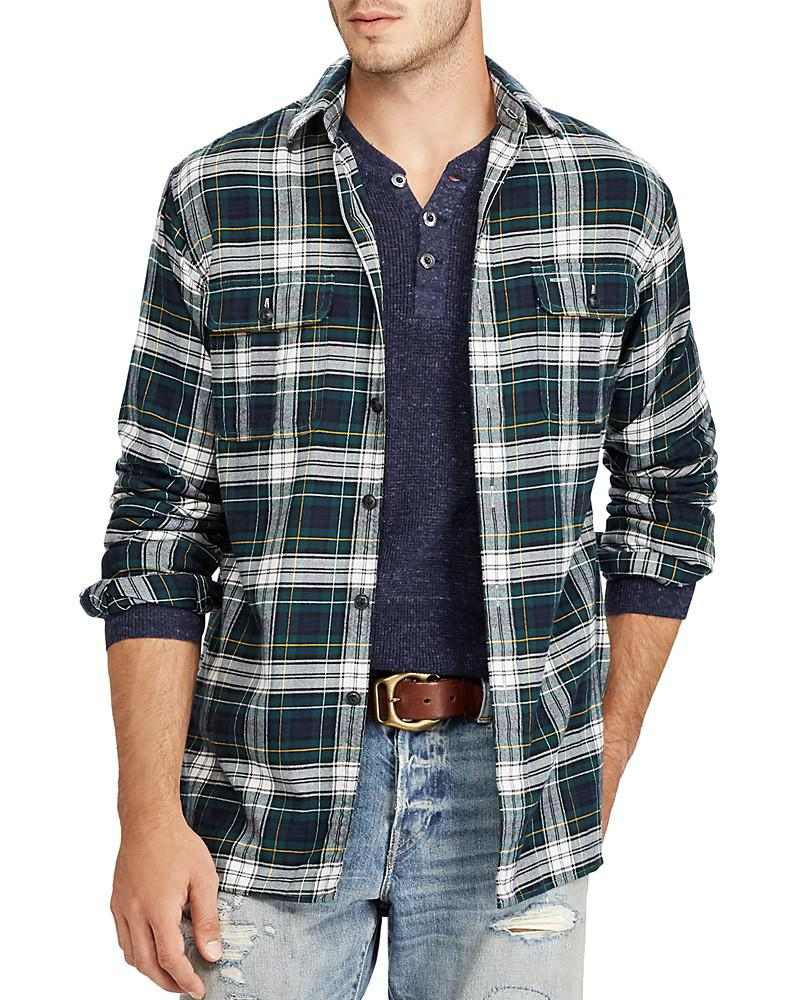 polo ralph lauren plaid classic fit button-down shirt