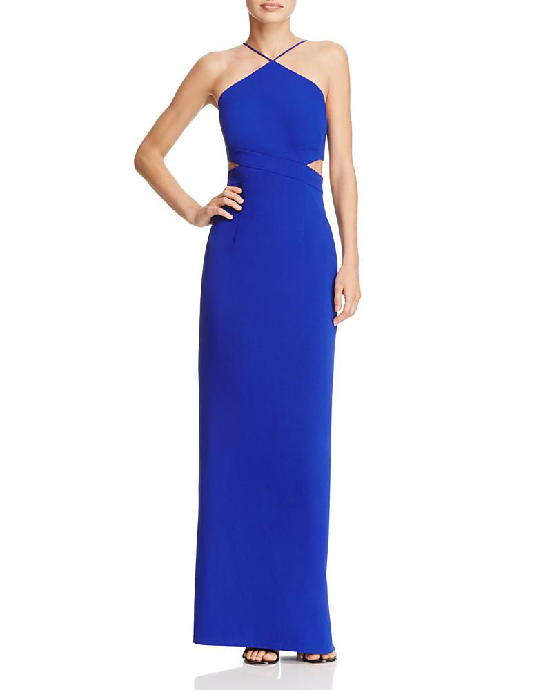 aidan aidan cutout crepe gown - 100% exclusive