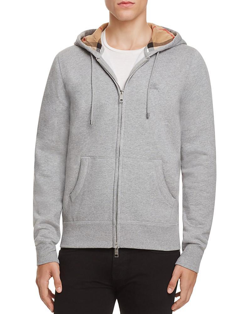 burberry claredon full zip hoodie