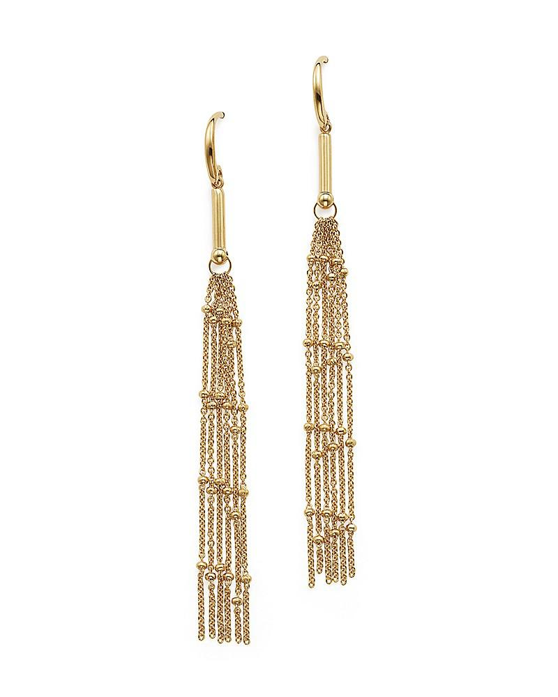 14k yellow gold tassel dangle earrings - 100% exclusive