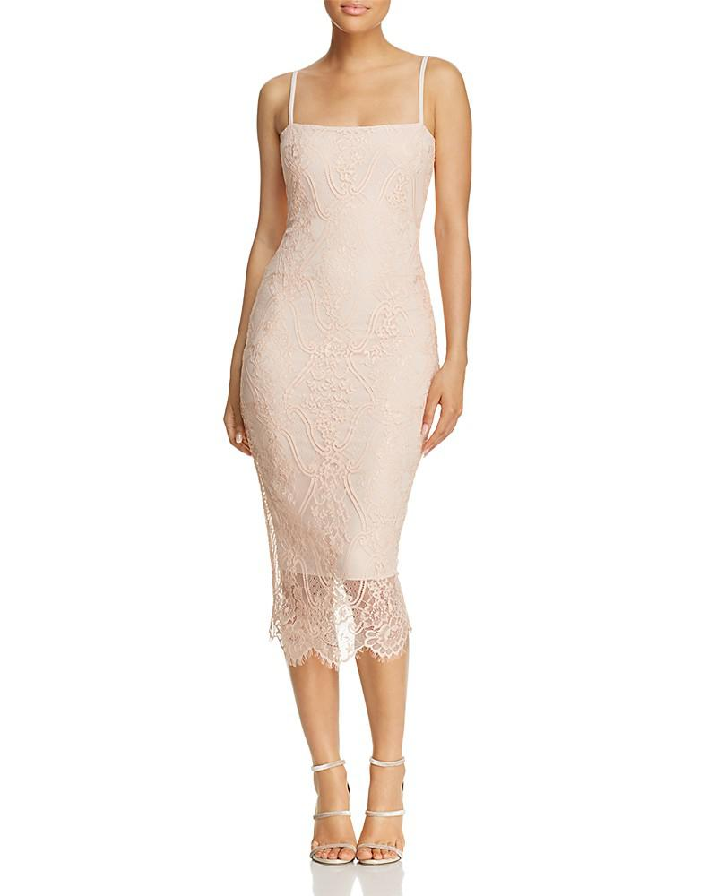 nookie linda lace midi dress