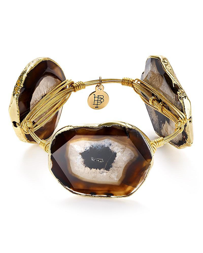 bourbon & boweties agate station bangle
