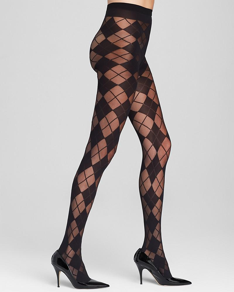 alice + olivia by pretty polly argyle tights