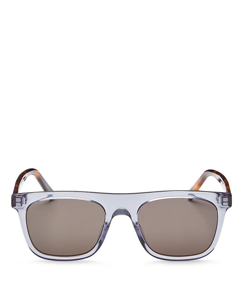 dior homme walk flat top square sunglasses, 50mm
