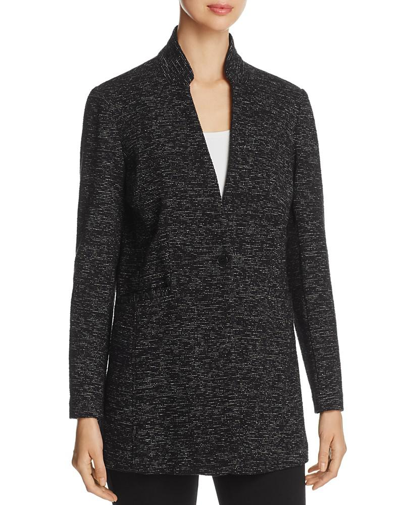 eileen fisher speckled knit long blazer - 100% exclusive