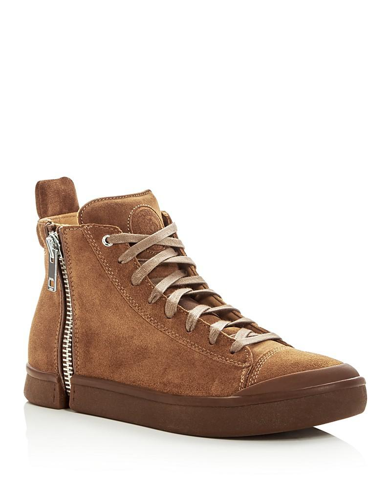 diesel men's s-nentish suede high top sneakers