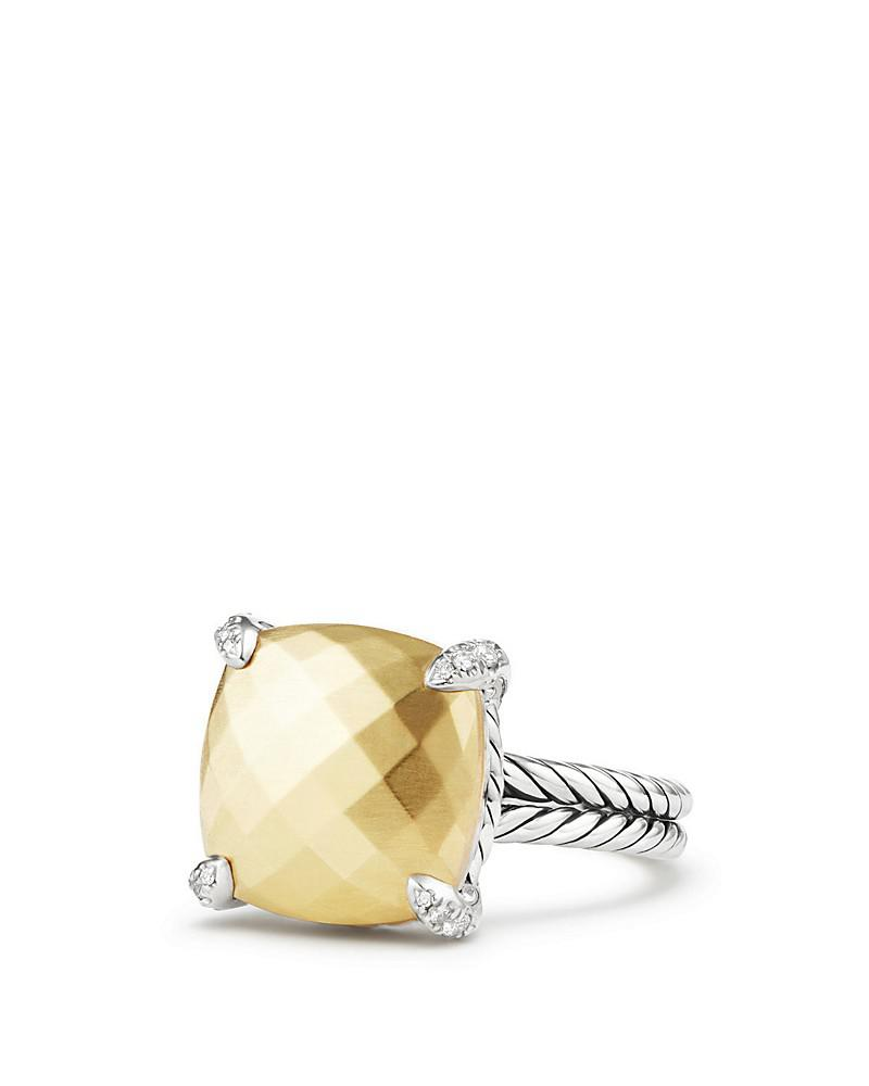 david yurman châtelaine® ring with 18k gold and diamonds