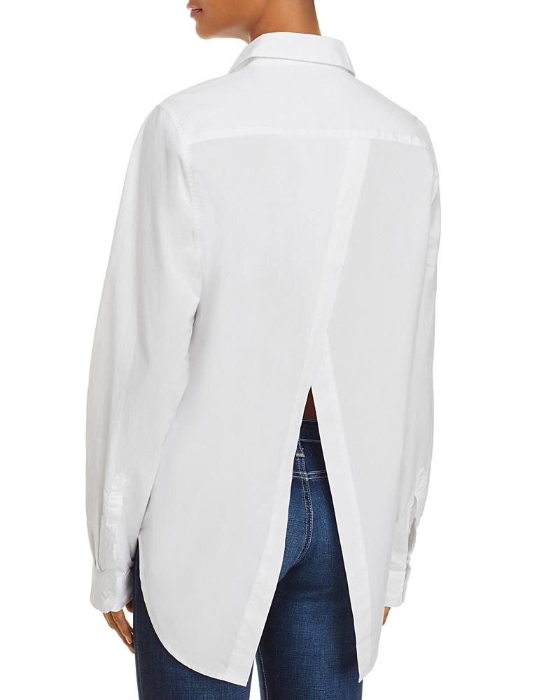birds of paradis split-back shirt