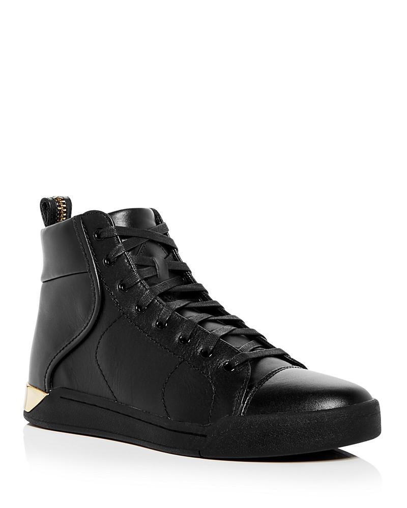 diesel men's tempus s-marquise leather high top sneakers