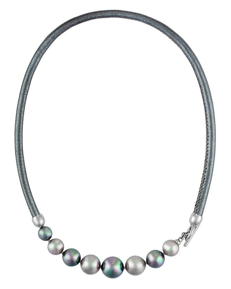 majorica simulated pearl collar necklace, 17""