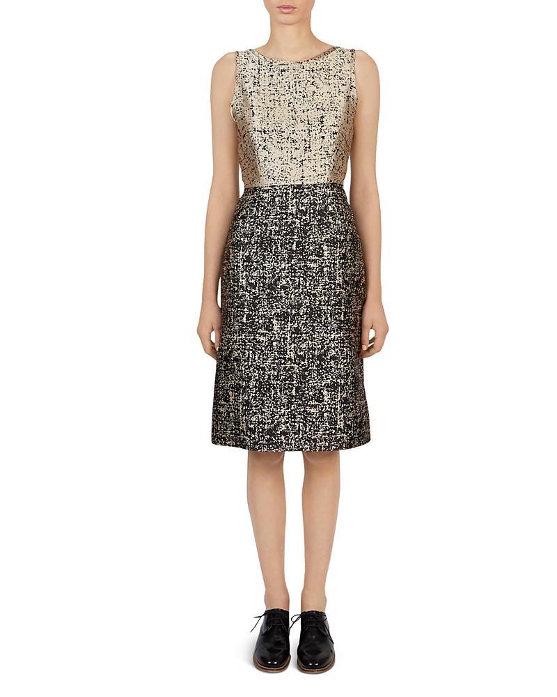 gerard darel darcy printed sheath dress