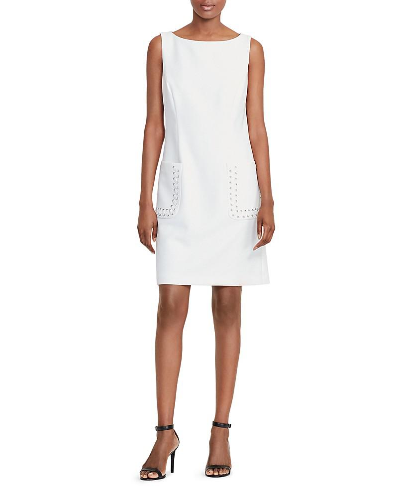 lauren ralph lauren lacing-detail dress