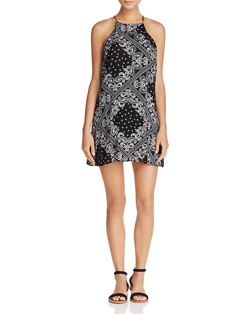 aqua bandana print shift dress - 100% exclusive