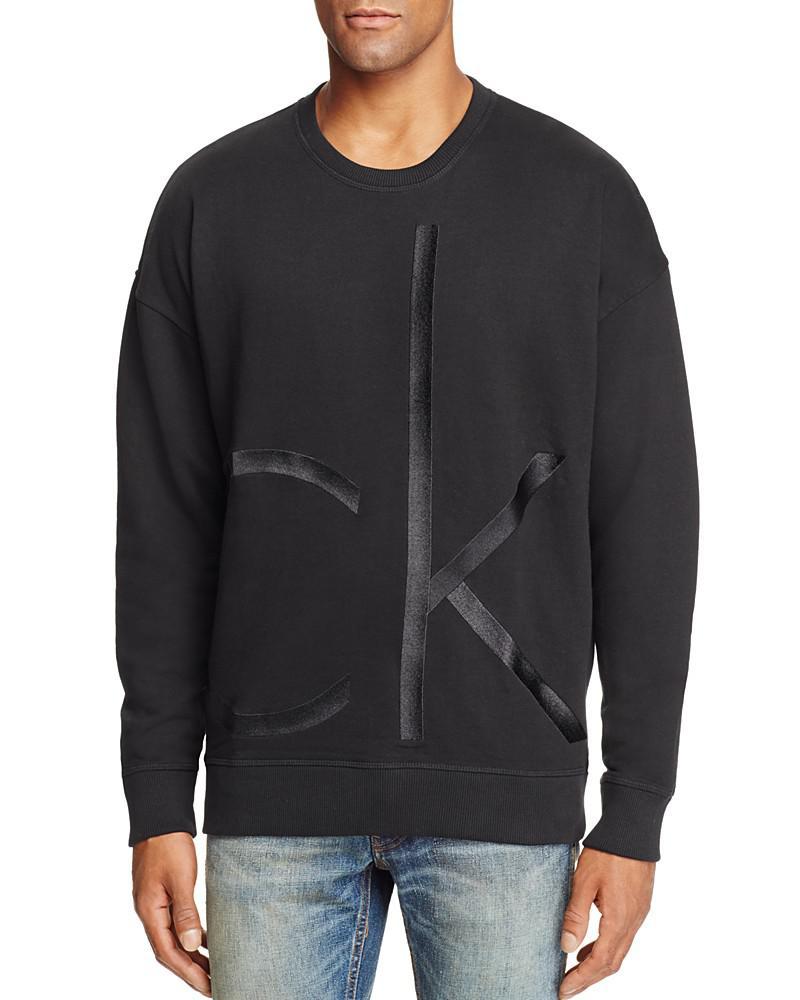 calvin klein embroidered logo crewneck sweatshirt
