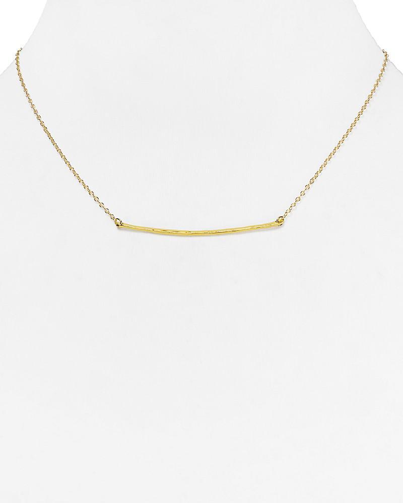 "gorjana small taner bar necklace, 16.75"""