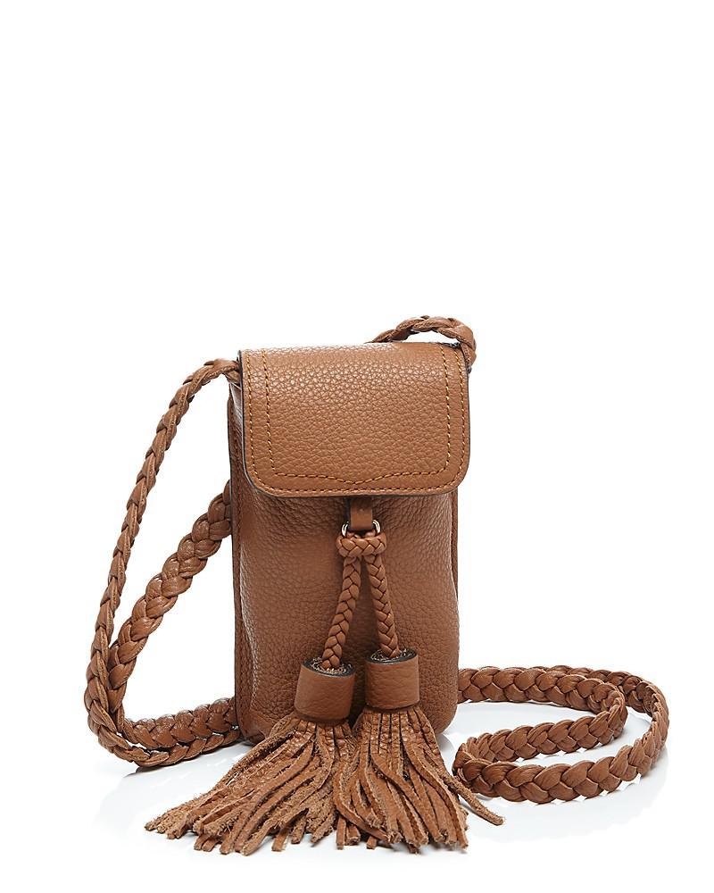 rebecca minkoff isobel leather smartphone crossbody