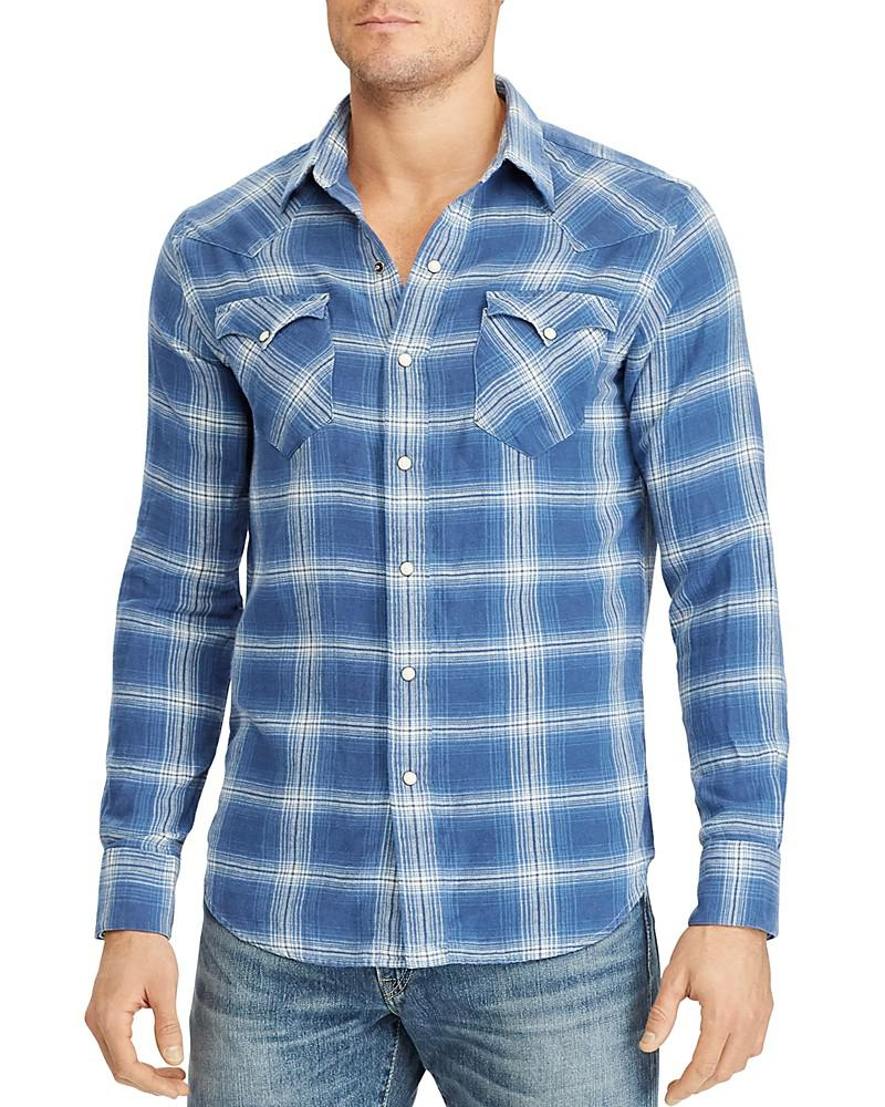 polo ralph lauren classic fit western button-down shirt