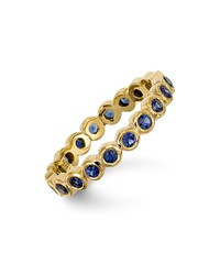 temple st. clair 18k gold eternity ring with blue sapphires
