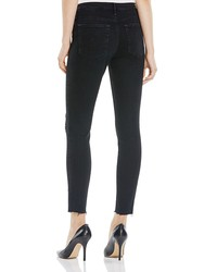 ag legging ankle raw hem jeans in raindrop - 100% exclusive