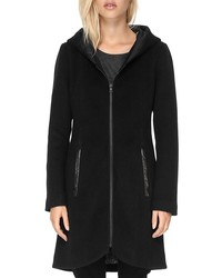 soia & kyo charlena fur trim coat