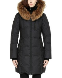 soia and kyo chrissy fur trim hood down coat