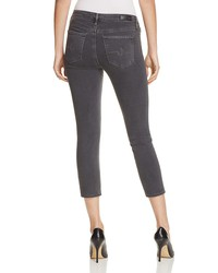 ag mid rise cigarette crop jeans in restoration - 100% exclusive