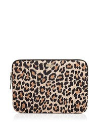 "kate spade new york leopard print 13"" nylon laptop case"