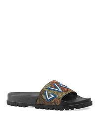 gucci men's floral brocade slide sandals