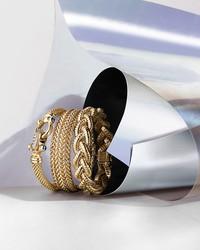14k yellow gold braided tubogas bracelet - 100% exclusive