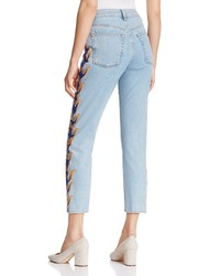 sandro flame cropped jeans