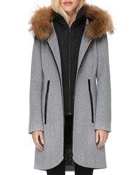 soia & kyo charlena fur trim coat - 100% exclusive