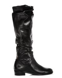 stuart weitzman women's flatscrunchy leather tall boots