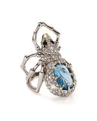 alexis bittar swarovski crystal pavé spider ring