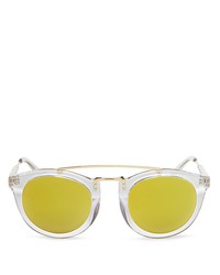 lyndon leone henry mirrored round sunglasses, 49mm - 100% exclusive