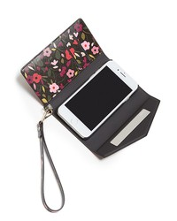 kate spade new york boho floral envelope iphone 7/8 wristlet