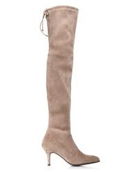 stuart weitzman women's tiemodel suede over-the-knee boots