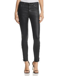 ag farrah coated skinny ankle jeans in super black