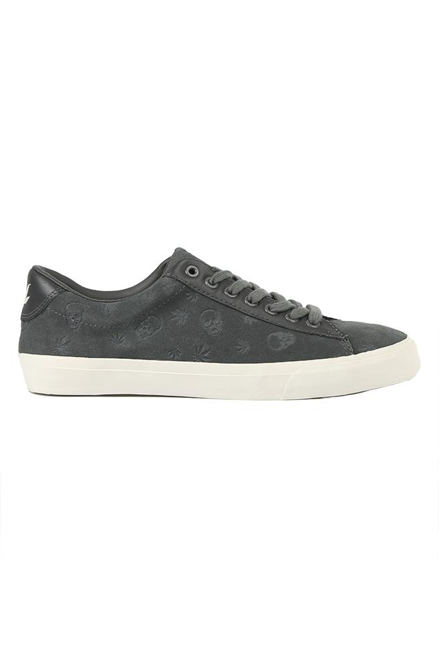 lucien pellat-finet - lucien pellat-finet monogram suede low sneaker