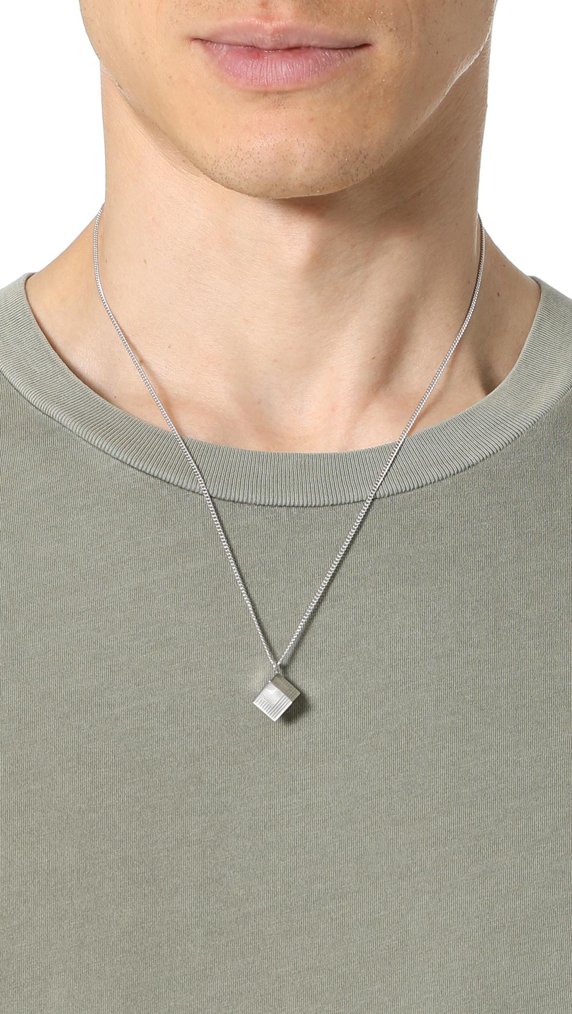 by mael c necklace apc silver thread item p a