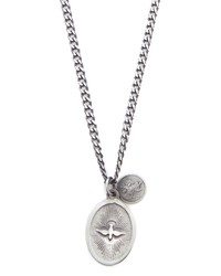miansai dove pendant necklace polished silver