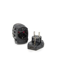 tumi electric grounded travel adapter black