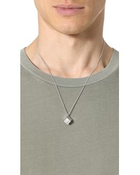 a.p.c. collier rubik necklace silver