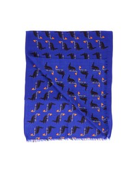 paul smith dino scarf blue