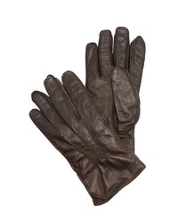 club monaco washed leather gloves medium brown