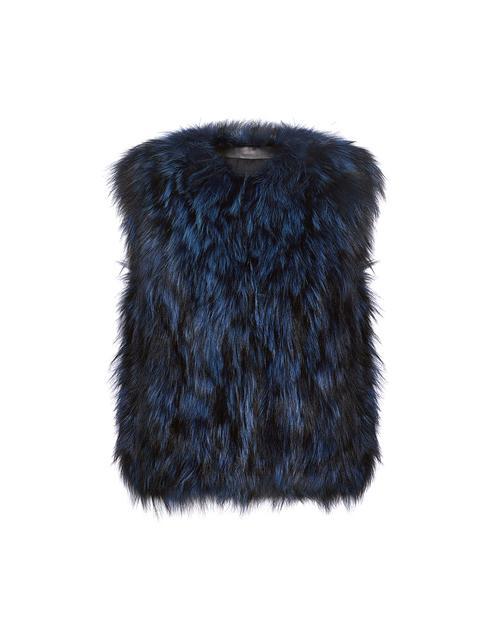 meteo by yves salomon fox fur vest